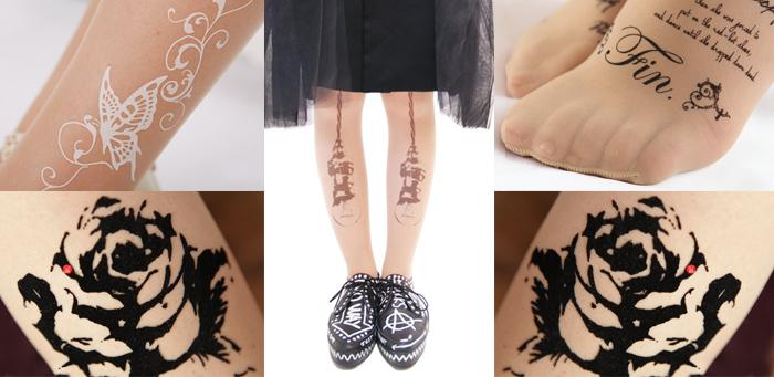 Tokyo fashion trend tattoo stockings