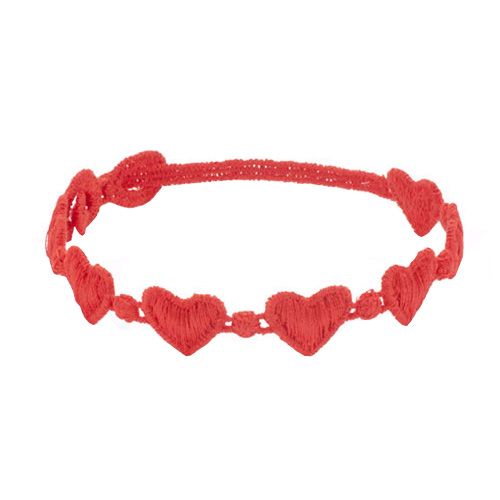 A cute touch to any outfit, this heart bracelet is soft and fits comfortably on your wrist.