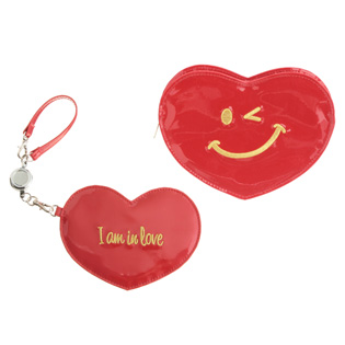 Keep all of your essentials in this little heart pouch.