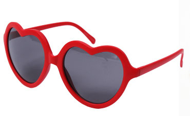 These heart-shaped sunglasses are absolutely adorable for any outfit.