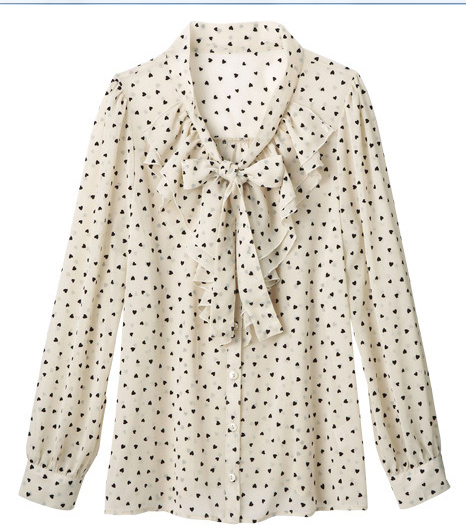 This lovely heart blouse is sweet and sophisticated.